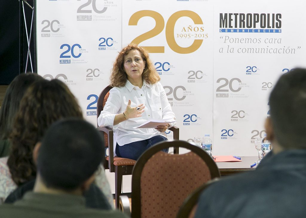 La presidenta de la Federación de Asociaciones de Periodistas de España, Elsa González (5)