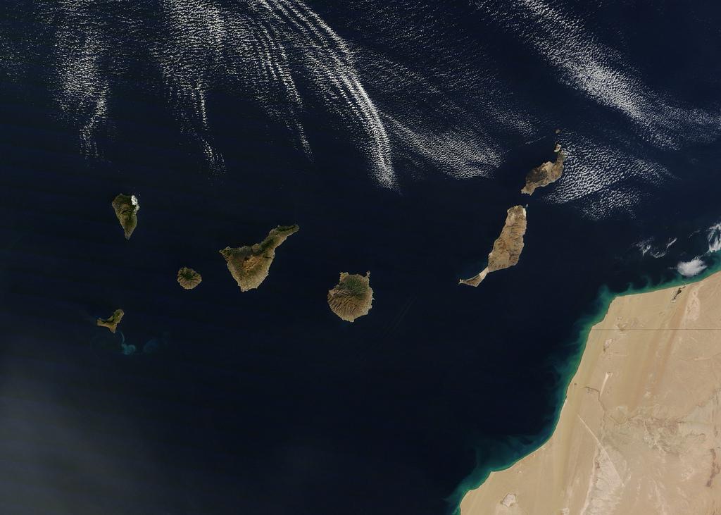 Islas Canarias. Foto: NASA/GSFC/Jeff Schmaltz/MODIS Land Rapid Response Team